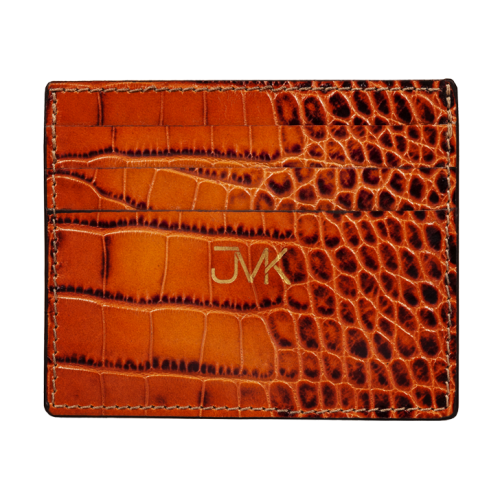 <p><b>Card Holder with Six Slots</b><br>Textured Crocodile Leather</p>